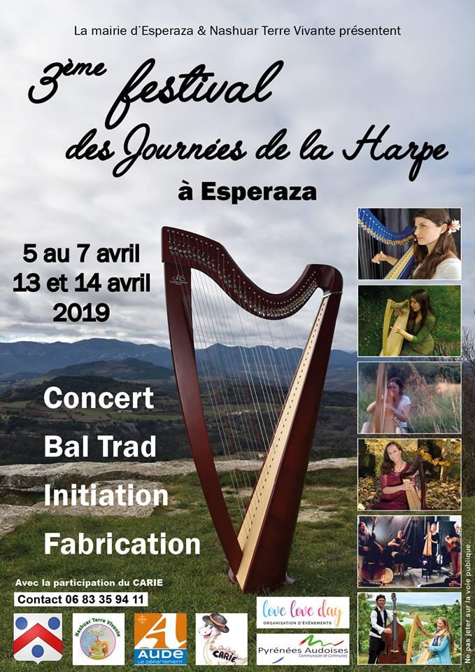 3eme festival des journees de la harpe de l aude a esperaza 2019