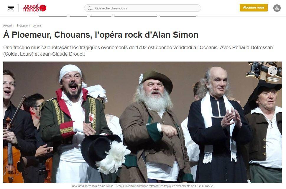 A ploemeur chouans l opera rock d alan simon