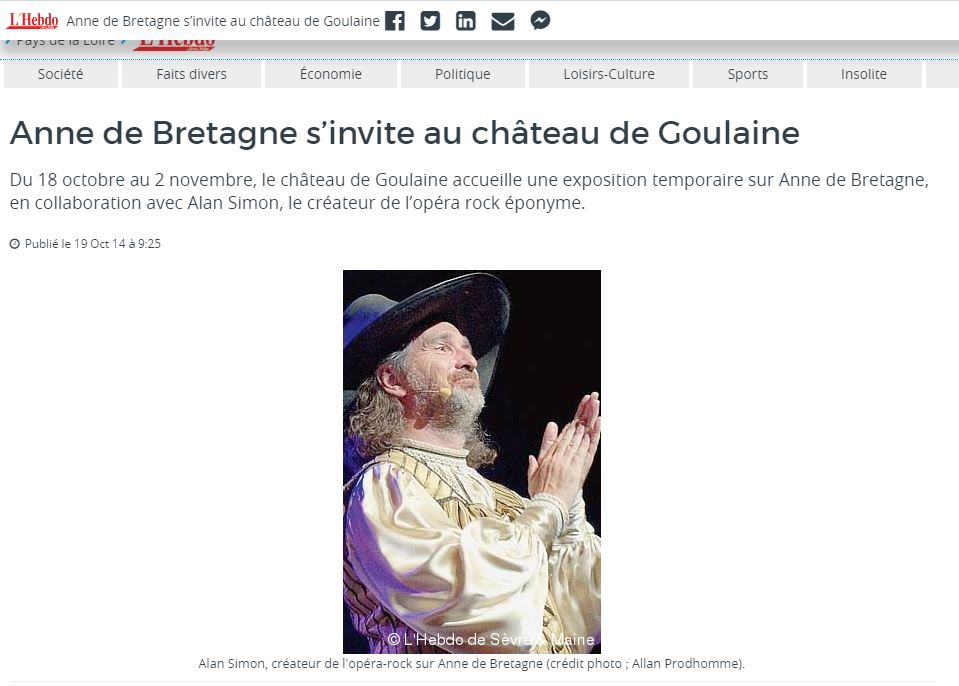 Haute-Goulaine. Anne de Bretagne