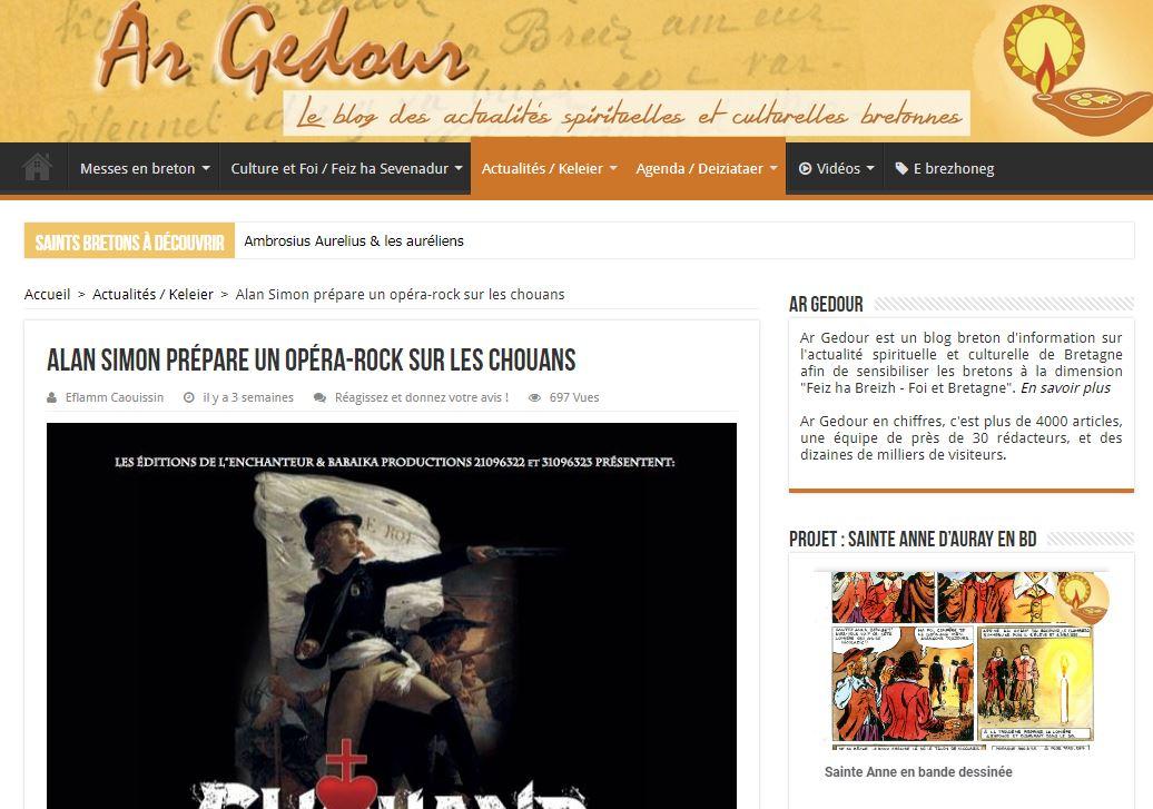 Chouans - Article Ar Gedour