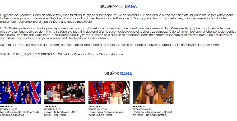 Biographie dana