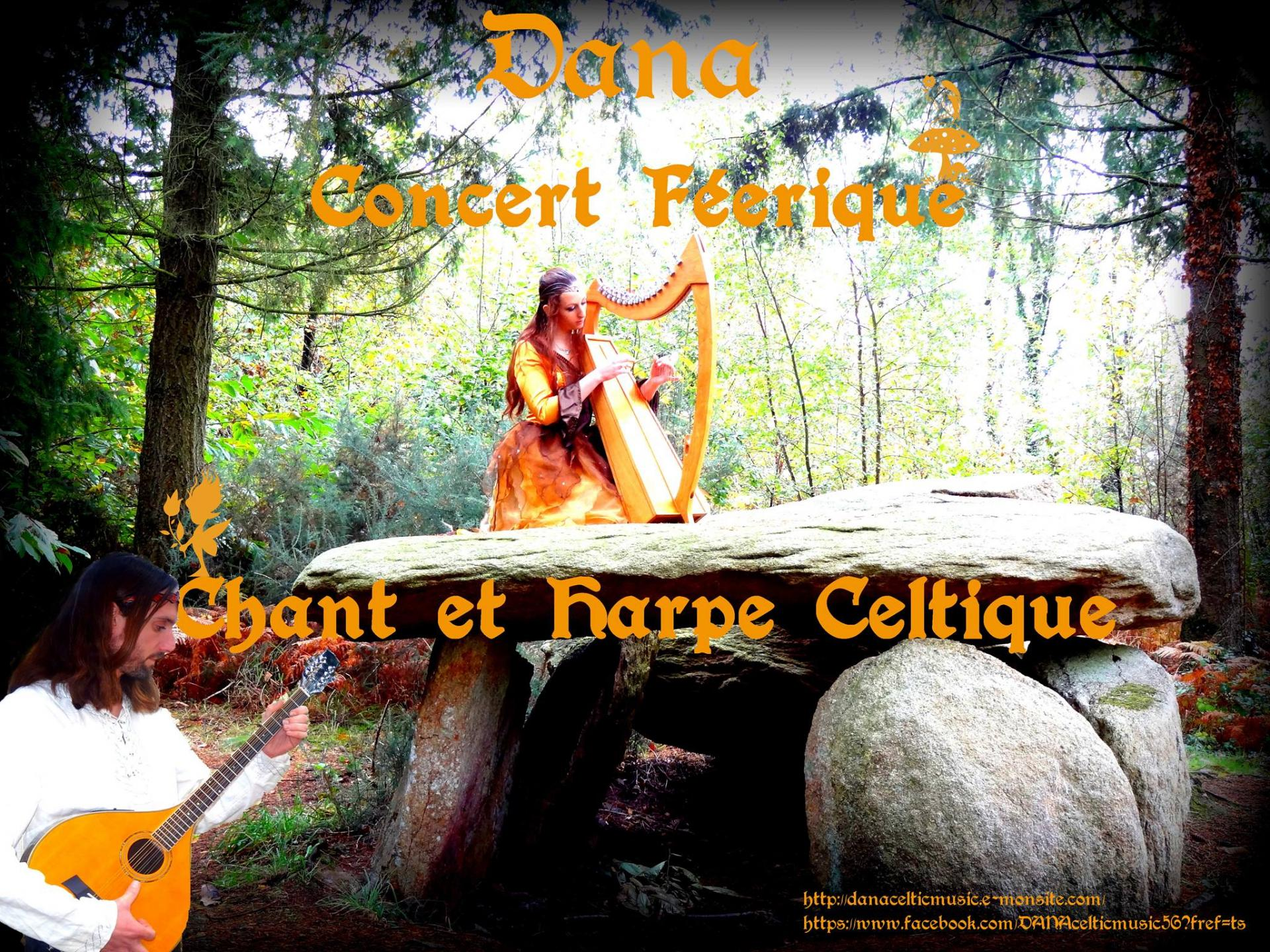 Concert féerique Dana Office de Tourisme de Brocéliande, Paimpont