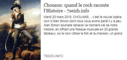 Chouans : Quand le rock raconte l'Histoire - 7seizh.info