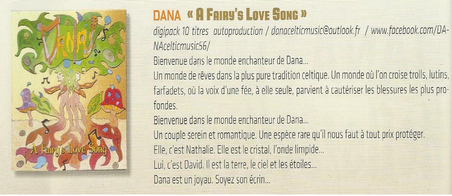 Dana - Article magazine - Fans du groupe Ange