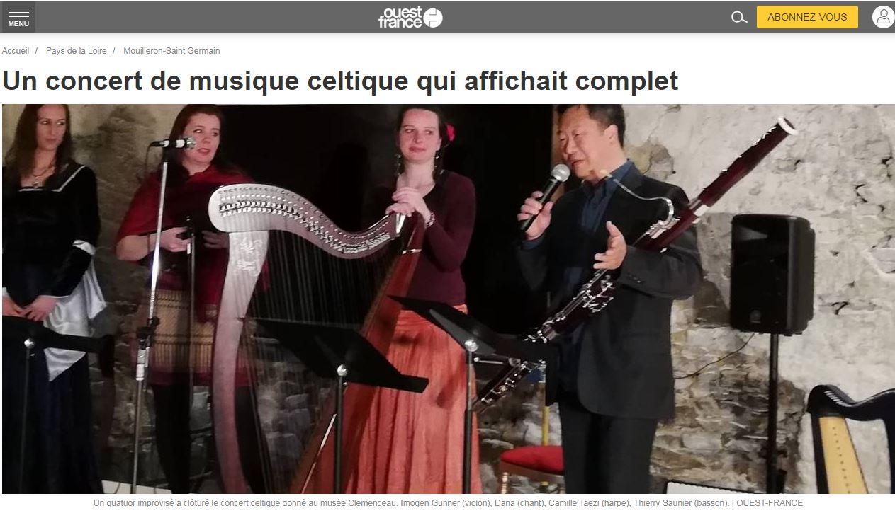 Un concert de musique celtique qui affichait complet