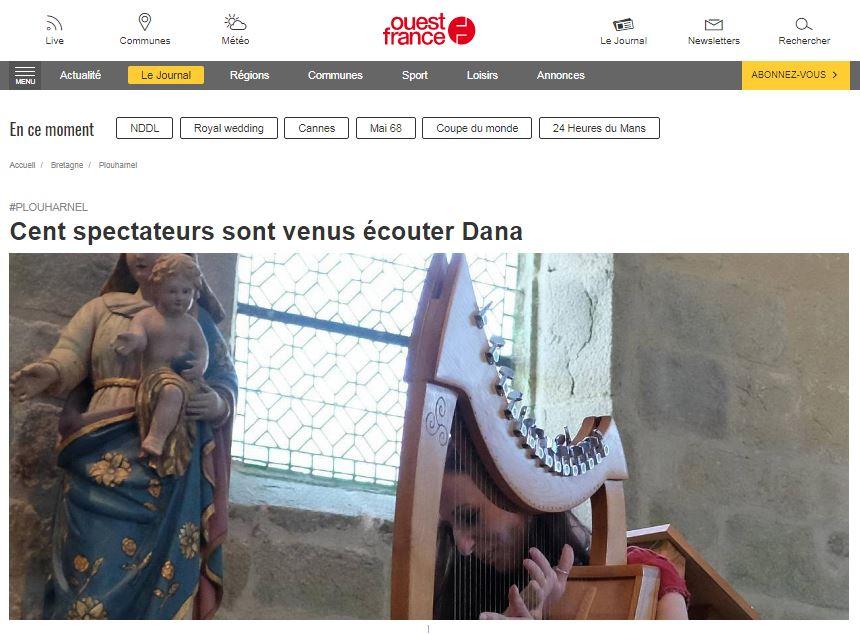 Dana concert plouharnel ouest france