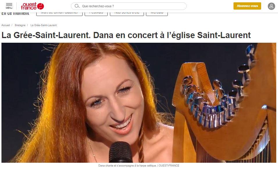 La Grée-Saint-Laurent. Dana en concert à l'église Saint-Laurent