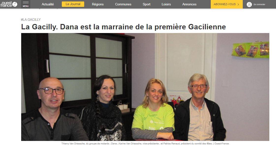 La Gacilly. Dana est la marraine de la première Gacilienne