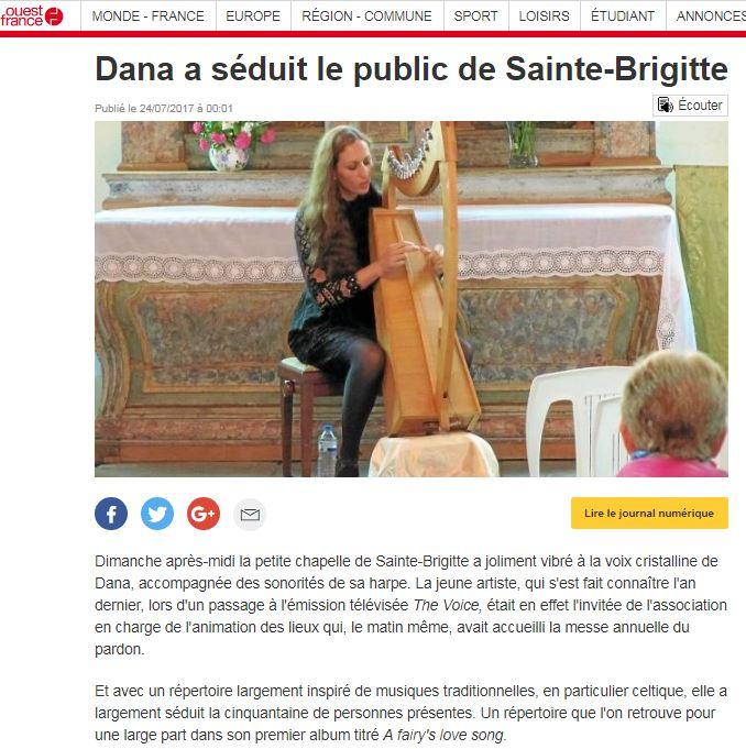 Dana sainte brigitte ouest france
