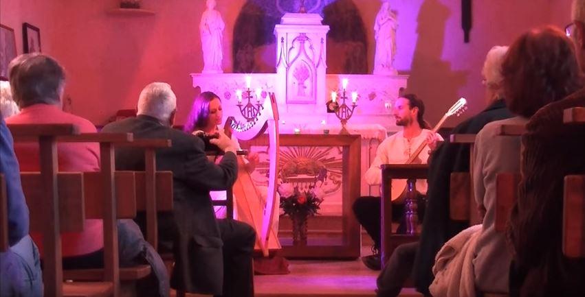 Dana scarborough fair trad celtic harp and voice