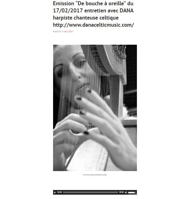 Emission de bouche a oreille du 17022017 entretien avec dana 1