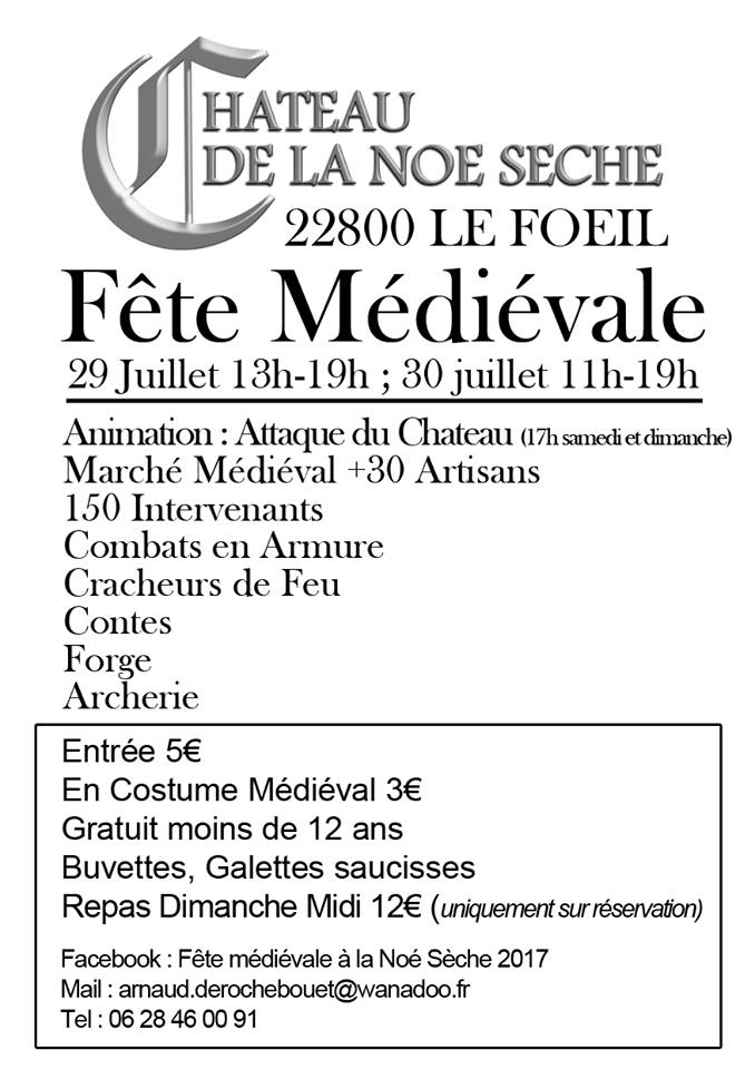 Fete medievale de la noe seche 2017 3e edition