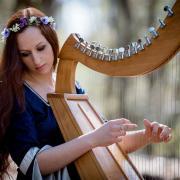 Harpiste celtique christel art photography fantasy